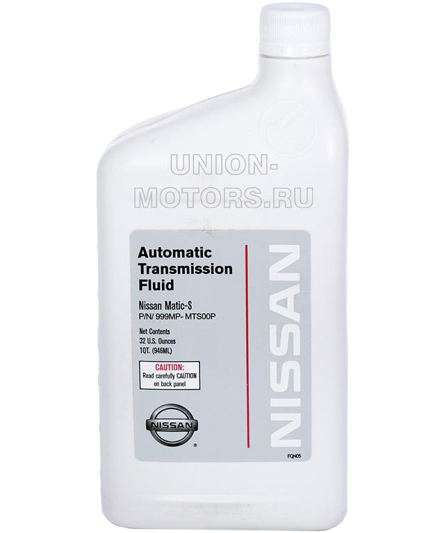 Мало АКПП NISSAN Matic-S. Канистра 1 литр. Артикул: 999MPMTS00P