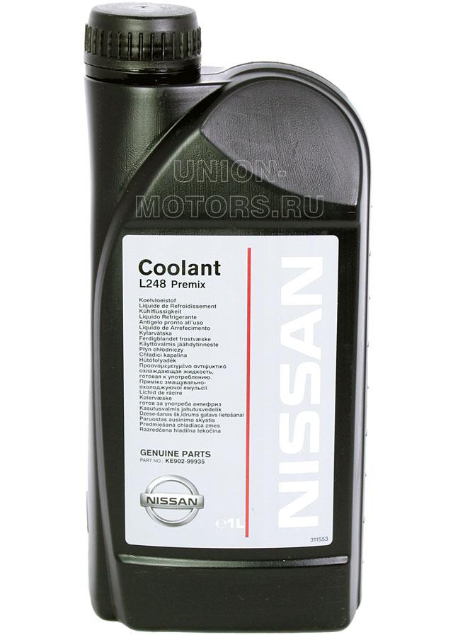 Антифриз L248 Premix для Nissan и Infiniti в канистре 1 литр артикул KE90299935