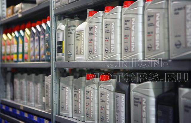 Оригинальные масла и аналоги для регламентного ТО Nissan в техцентре Юнион Моторс