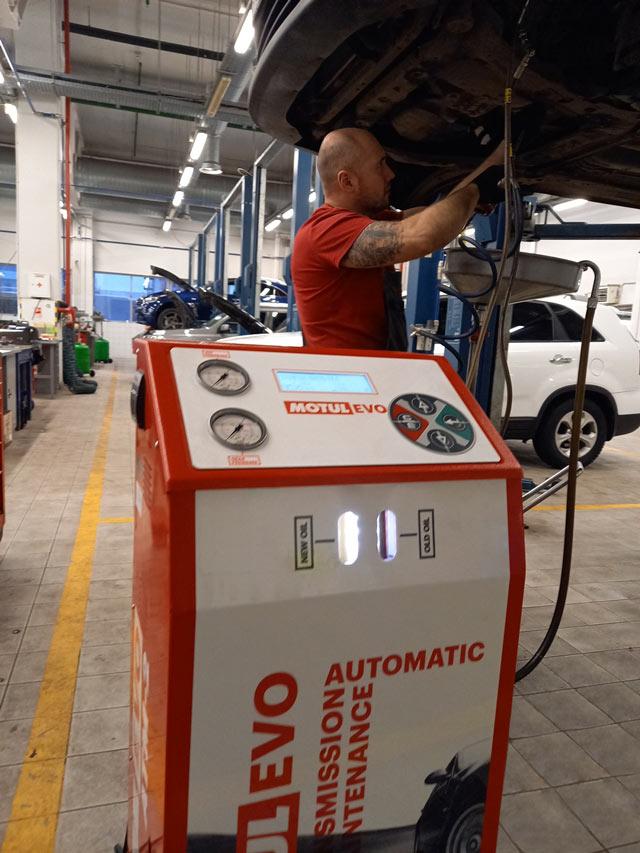 Подключение стенда полной замены маслаАКПП Nissan и Infiniti