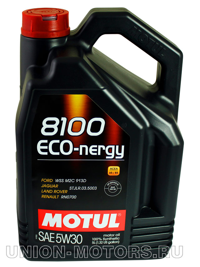 Масломоторное Motul 8100Eco-nergy 5W-30  канистра5 л